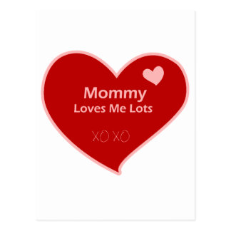 Mommy Loves Me Lots Postcard