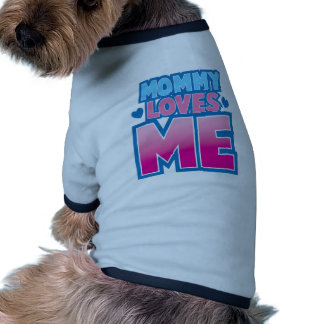 Mommy loves me with love hearts pet tee shirt