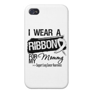 Mommy Lung Cancer Ribbon iPhone 4 Case