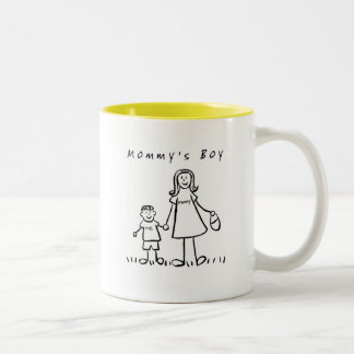Mommy & Me Mug(Drawing with Title) Two-Tone Coffee Mug