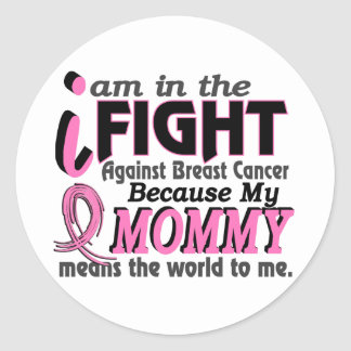 Mommy Means The World To Me Breast Cancer Stickers