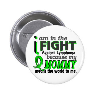 Mommy Means The World To Me Lymphoma 6 Cm Round Badge