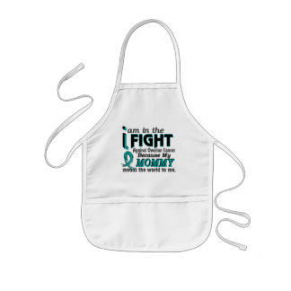 Mommy Means World To Me Ovarian Cancer Apron