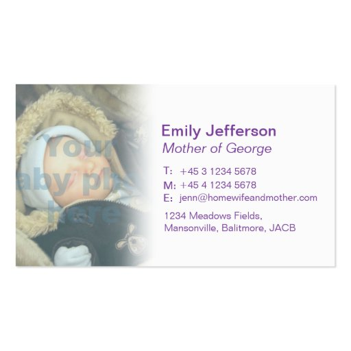 Mommy / mummy  calling information cards business card templates