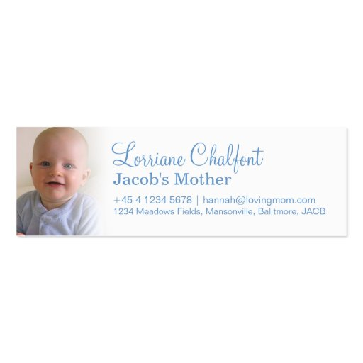 Mommy / mummy  calling slim information cards business cards