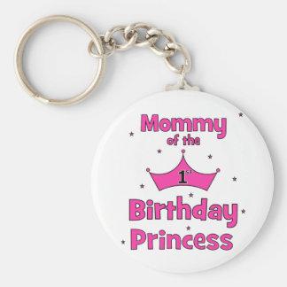 Mommy Of The 1st Birthday Princess Keychains