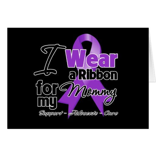 Mommy - Pancreatic Cancer Ribbon Greeting Cards