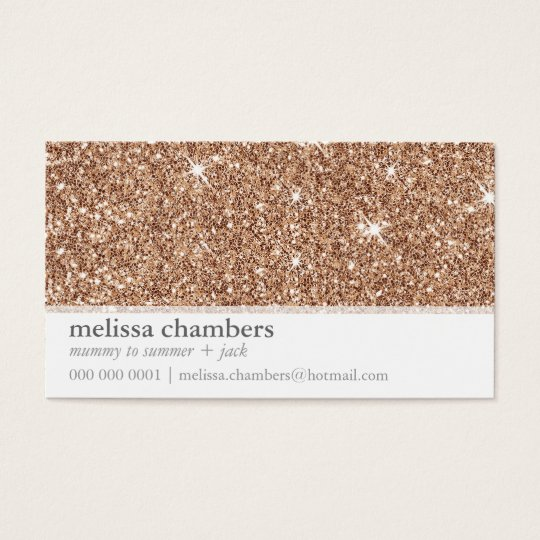 MOMMY PLAYDATE CONTACT modern rose gold glitter Business