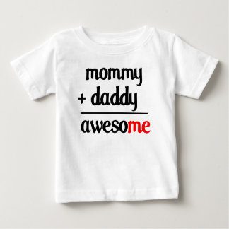 Mommy Plus Daddy Equals Awesome Kids Shirt