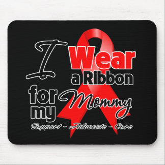 Mommy - Red Ribbon Awareness Mouse Pad