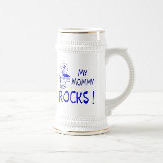 Mommy Rocks ! (blue) Beer Steins