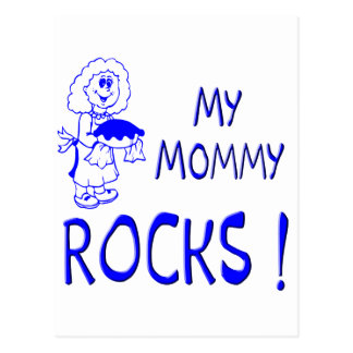Mommy Rocks ! (blue) Postcard