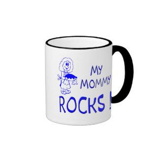 Mommy Rocks ! (blue) Ringer Mug