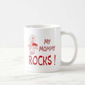 Mommy Rocks ! (red) Basic White Mug