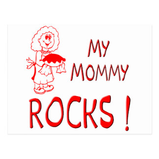 Mommy Rocks ! (red) Postcard
