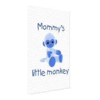 Mommy s Little Monkey blue Gallery Wrap Canvas