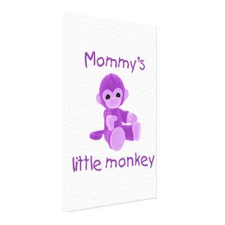 Mommy s Little Monkey purple Canvas Prints