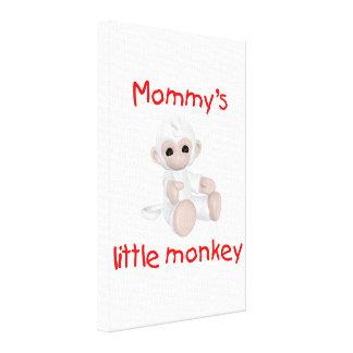 Mommy s Little Monkey white Gallery Wrap Canvas