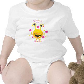 Mommy s Little Monster Yellow Infant Creeper