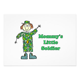 Mommy s Little Soldier Custom Announcement