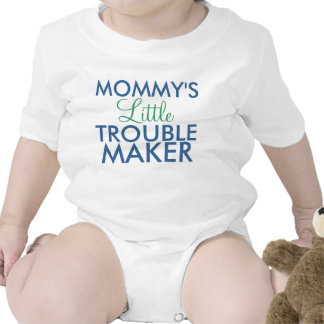 Mommy s Little Trouble Maker Blue Baby Creeper