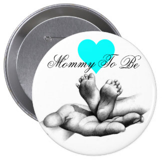 Mommy to be 10 cm round badge