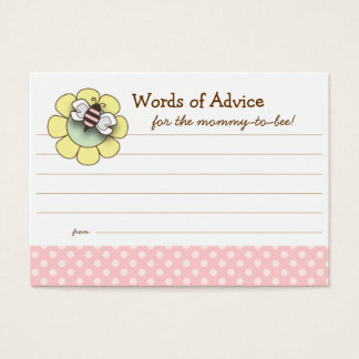 Mommy to Be Advice Card Baby Shower | Pink