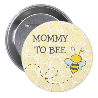 Mommy to Be Bumblebee Baby Shower Button
