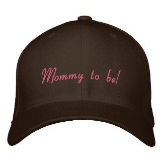 Mommy to be embroidered baseball cap
