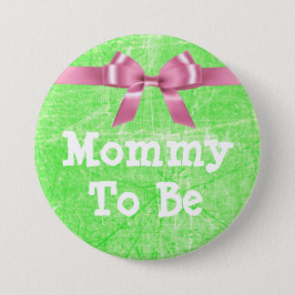 Mommy to Be Lime Green and Pink Button