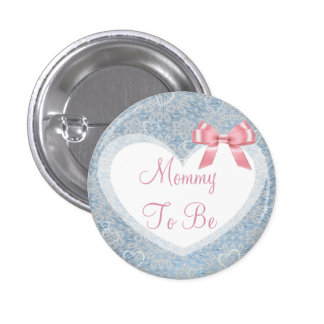 Mommy to be Pink & Blue Baby Shower Button