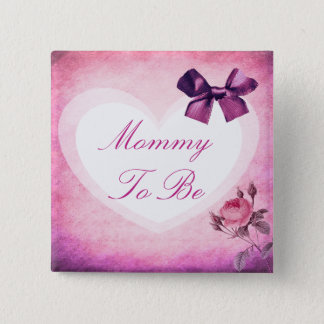 Mommy to be Purple & Pink Baby Shower Button
