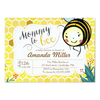 Mommy to Bee Invitation - Bee Baby Shower
