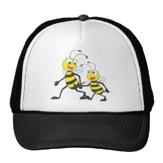 Mommy Walking with Cartoon Bees Cap
