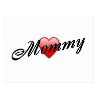 Mommy with Heart Postcard