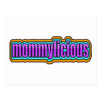 Mommylicious, Funky -- Purples, Blue, Orange Postcard