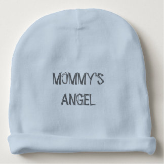 """MOMMY'S ANGEL"" Baby Boy Cotton Beanie Baby Beanie"