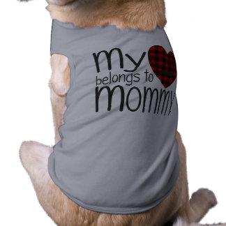 Mommy's Hipster Heart (grey) Sleeveless Dog Shirt