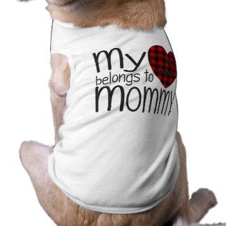 Mommy's Hipster Heart (white) Sleeveless Dog Shirt