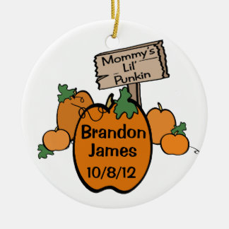 Mommy's Lil' Punkin Christmas Ornament