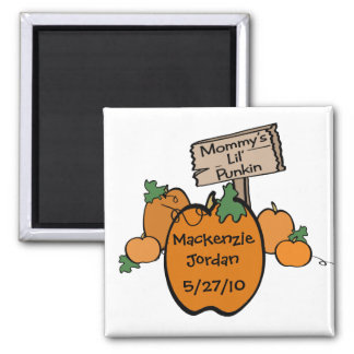 Mommy's Lil' Punkin Square Magnet
