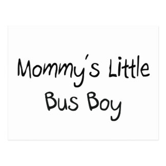 Mommys Little Bus Boy Postcard