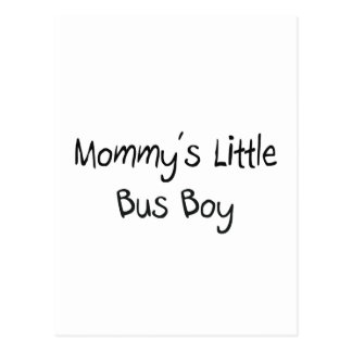 Mommys Little Bus Boy Postcards