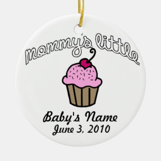 Mommy's Little Cupcake - Pink - Your Name Christmas Ornament