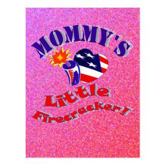 Mommy's Little Firecracker Cards Postcard