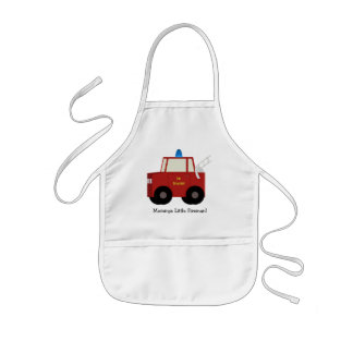 Mommys Little Fireman! Childs Apron
