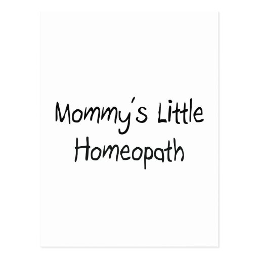Mommys Little Homeopath Postcard