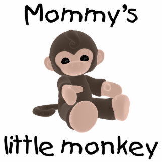 Mommy's Little Monkey (brown) Acrylic Cut Outs