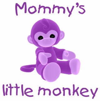Mommy's Little Monkey (purple) Photo Cut Outs