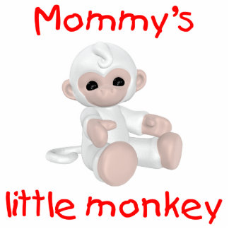 Mommy's Little Monkey (white) Photo Cut Out